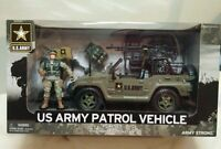 U.s. Army Patrol Jeep Play Set Action Figure Vehicle Gear Official Licensed