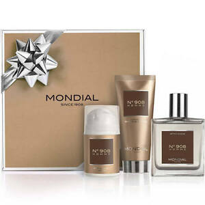 Mondial-Xmas-Gift-Pack-for-Men-N-908-IV-After-Shave-Lotion-Cream-Shaving-Cream