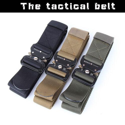 Tactical Army Buckle Belts Fashion Mens Training Military Belt Waist Belt