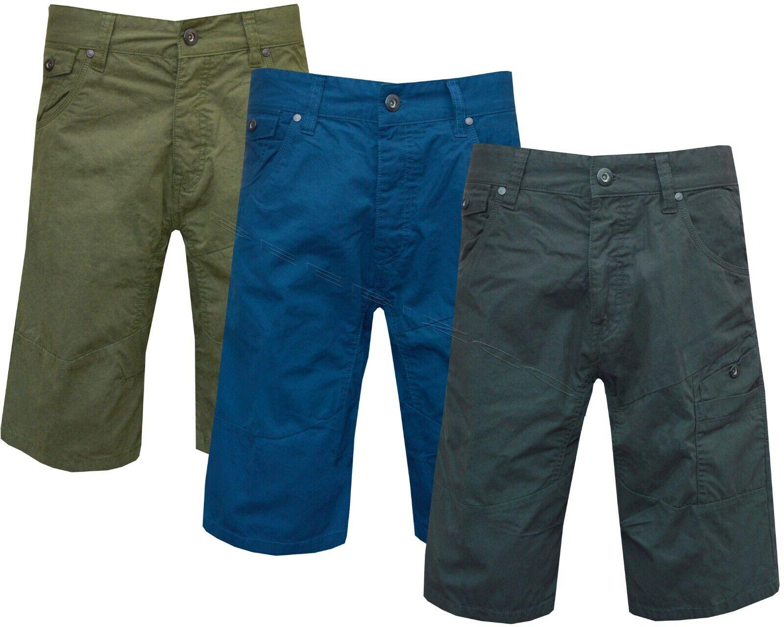 Nuevo Para Hombre 100% Algodón Pantalones Cortos De Diseñador Casual Chinos Verano S-XL