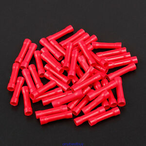 Heat Shrink Butt Wire Cable Connectors Electrical Crimp  RED AWG 22-18 100 pcs