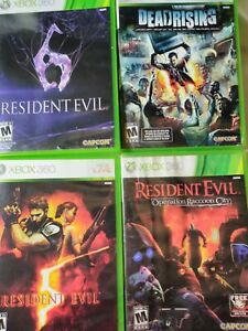 Xbox-360-Zombie-4-Video-Game-Lot-Resident-Evil-5-6-Operation-Raccoon-City-Dead