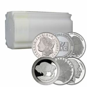 1 Oz Silver Rounds Lot Of 20 Direct From Mint In Sealed