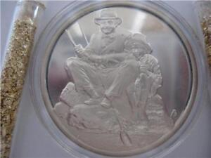 1-OZ..925 SILVER COIN HAMILTON MINT NORMAN ROCKWELL 4 SEASONS (SUMMER) + GOLD