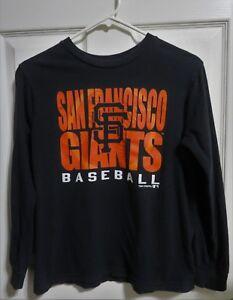 San-Francisco-Giants-Baseball-T-Shirt-Genuine-MLB-Vtg-1983-Long-Slv-Kids-Large