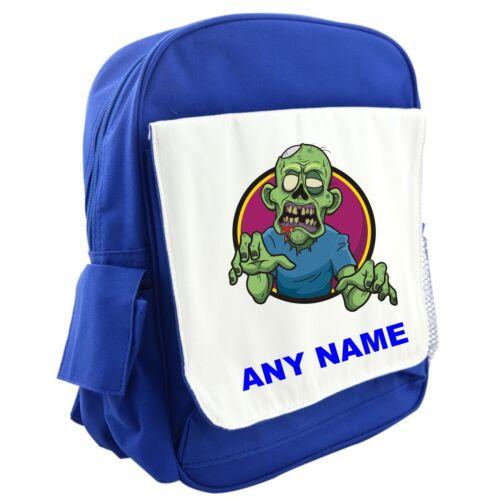 Personalised ZOMBIE Backpack//Rucksack//School Bag BLUE//RED//PINK