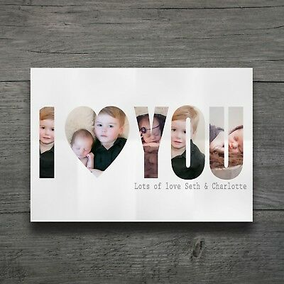Personalised I Love You Print Anniversary Valentine Birthday Mothers Day Gift