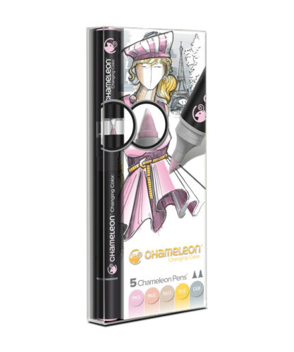 Choice of 10 Packs of 5 Assorted Colour Matched Pens CHAMELEON Pens