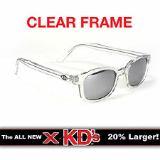 X-KD's Clear Frame Silver Mirror Lens Sunglasses X KD Motorcycle Riding Glasses