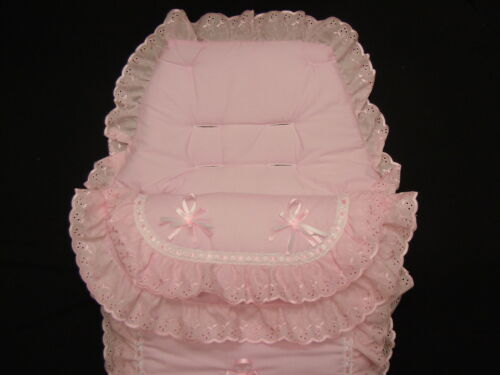 FOOTMUFF ROMANY STYLE  COLOUR  BABY  PINK BEAUTIFUL LUXURY COSYTOES