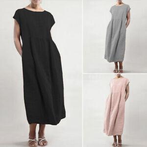 ZANZEA-Women-Summer-T-Shirt-Dress-Oversize-Long-Shirt-Dress-Plus-Sundress-Plus