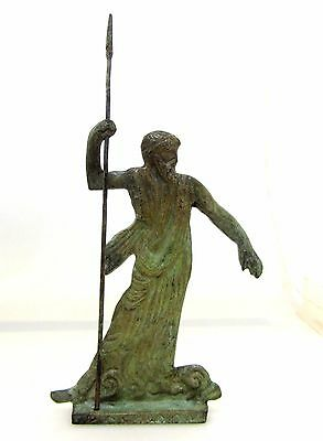 Ancient Greek Bronze Museum Statue Replica of Zeus Pantheon King of The Olympian Gods Silver
