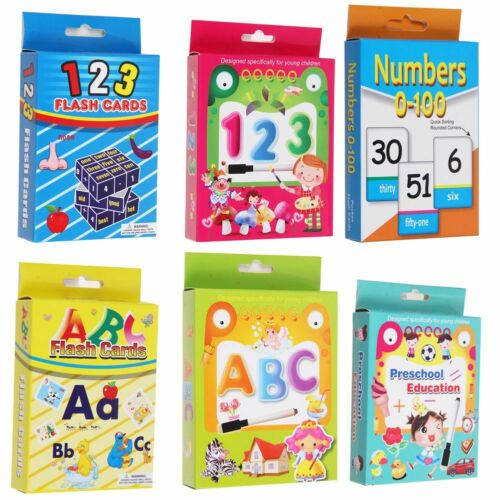 Numbers Animal Flash Cards For Kids Toddler Educational Early Learning Preschool