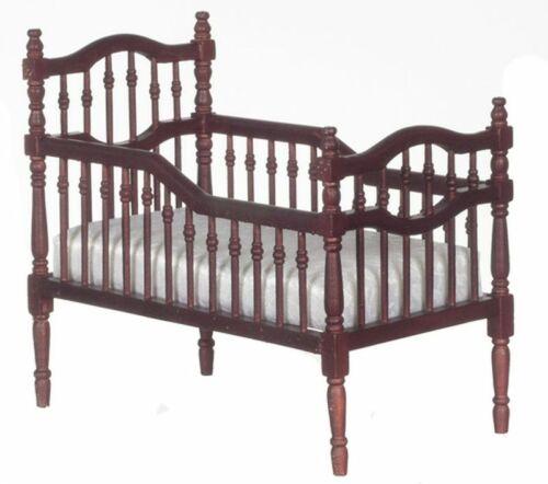 Dollhouse Miniature Victorian Mahogany Crib