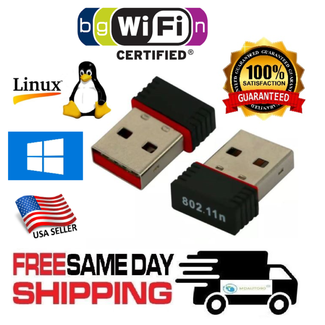 Black Mini Realtek RTL8188 USB WiFi 802.11B//G//N Adapter Wireless Network Dongle