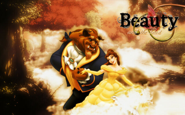 Beauty and the Beast  Huge wall Poster  22 inch  x 34 inch ( Fast Shipping )