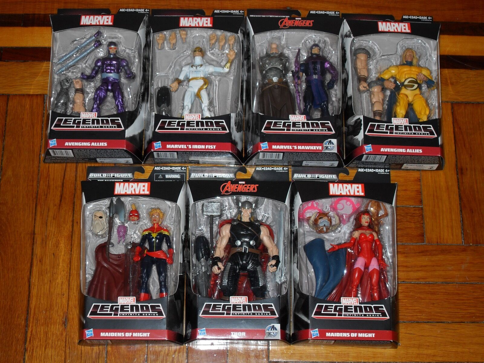 Marvel Legends Infinite Series Build A Figure The AllFather Odin Action Figures