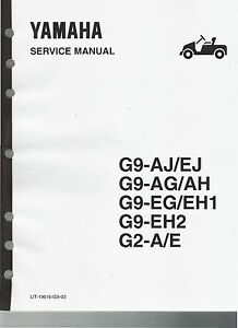 Yamaha       Golf       Cart    G2    G9    Gas   Electric Factory Service