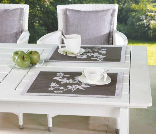Tischset 2er Borkum-Vigne Imprimé Anthracite 30x45 cm