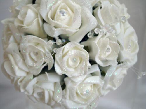 Brides,Bridesmaids,Flowergirl wedding bouquet buttonholes,corsages White//Ivory
