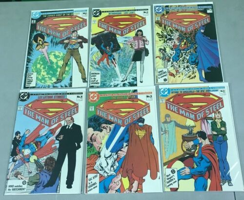 SUPERMAN MAN OF STEEL  #1-6 DC COMPLETE SET VF//NM SPECIAL EDITION #1