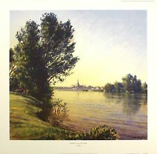 LIONEL AGGETT Sunrise Sully-sur-Loire river SIGNED LTD! SIZE:52cm x 54cm NEW