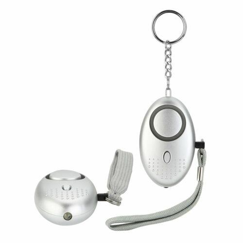 2*Panikalarm Personenalarm Taschenalarm Selbstschutz SOS Schlüssel Sirene Silber
