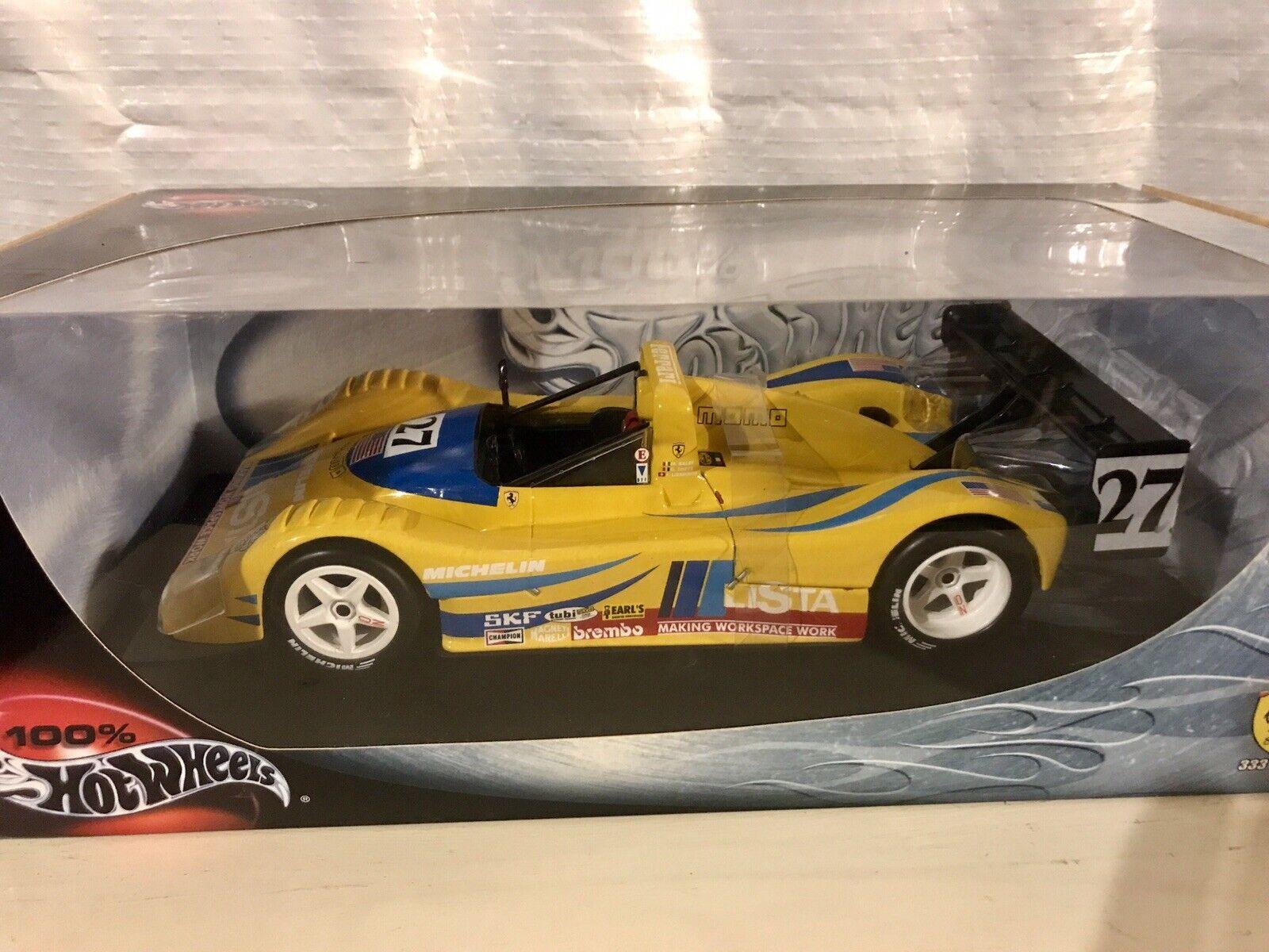 Hotwheels Ferrari 333sp lista personalizada 1 18 Mattel Raro F333 SP 333 Momo Amarillo