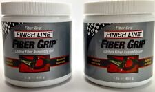 2 PACK ONE POUND LB. JAR FINISH LINE BICYCLE CARBON FIBER GRIP INSTALL PASTE NEW