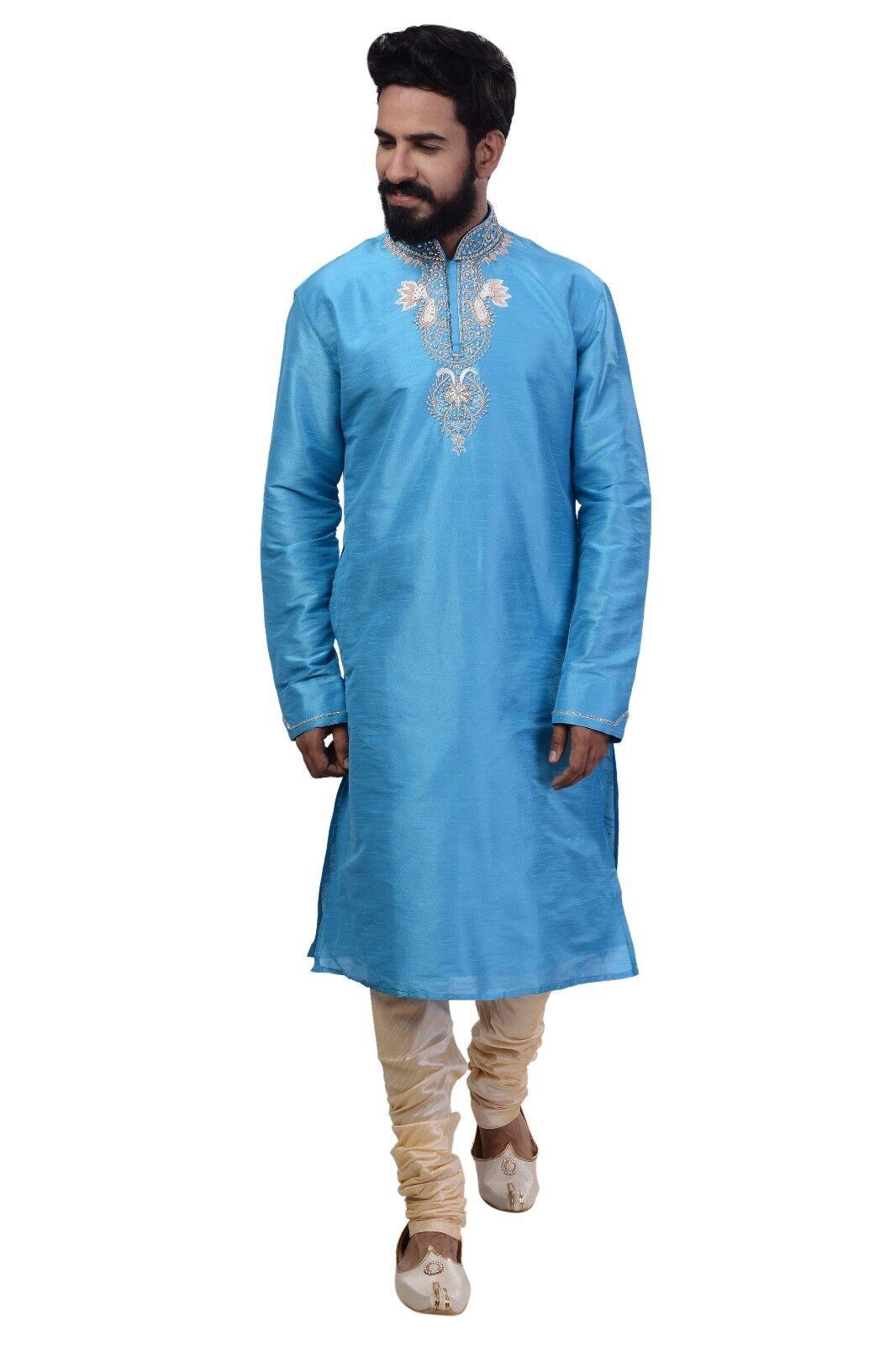 Indian Bollywood Design Kurta Sherwani for Men 2pc Suit (Worldwide Postage)