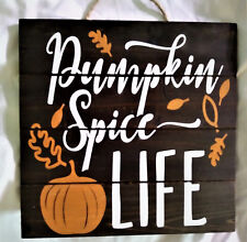 Pumpkin Spice /& Everything Nice Box Sign Primitives by Kathy PBK Fall Decor