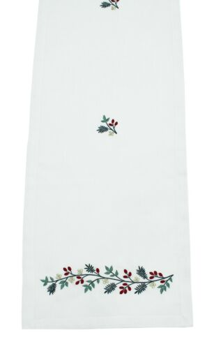show original title Details about  /Lucia embroidered christmas table linen-road or napkins placemats