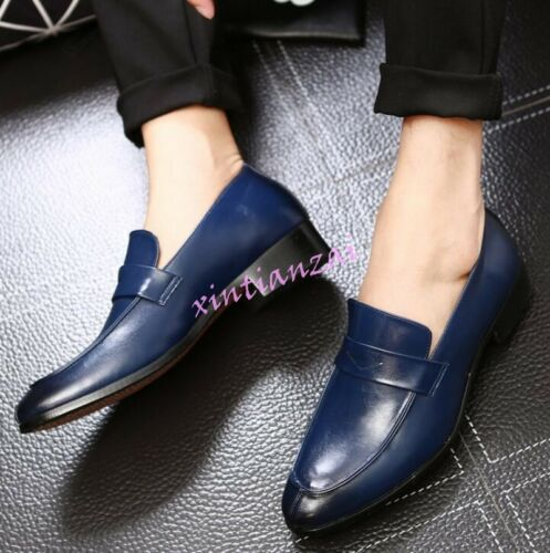 Mens Business Leather Slip On Loafers Pumps Dress Formal Shoes Pointed Toe HOT