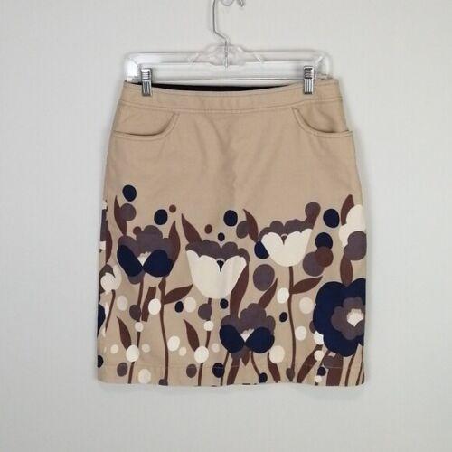 Boden Women's Tulip Print Skirt Khaki Size 8L - image 1