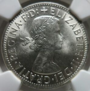 AUSTRALIA Florin 2 Shillings 1958 NGC MS 64 UNC Quality!