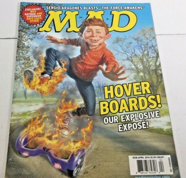 MAD Magazine Hover Boards! April 2016 - Fast Free Shipping!