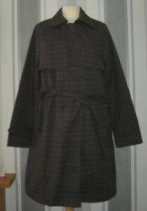 ANNE-WEYBURN-Short-Checked-Trench-Coat-uk-size-18