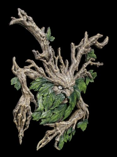 Greenman Wandrelief Baummensch Figur Statue Tree Spirit Baumgeist Wylde Jack