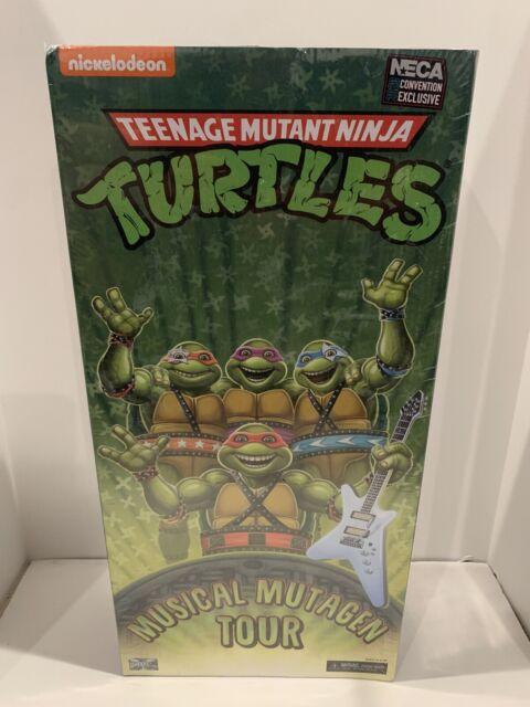 Teenage Mutant Ninja Turtles Musical Mutagen Tour NECA 2020 SDCC 4-Pack