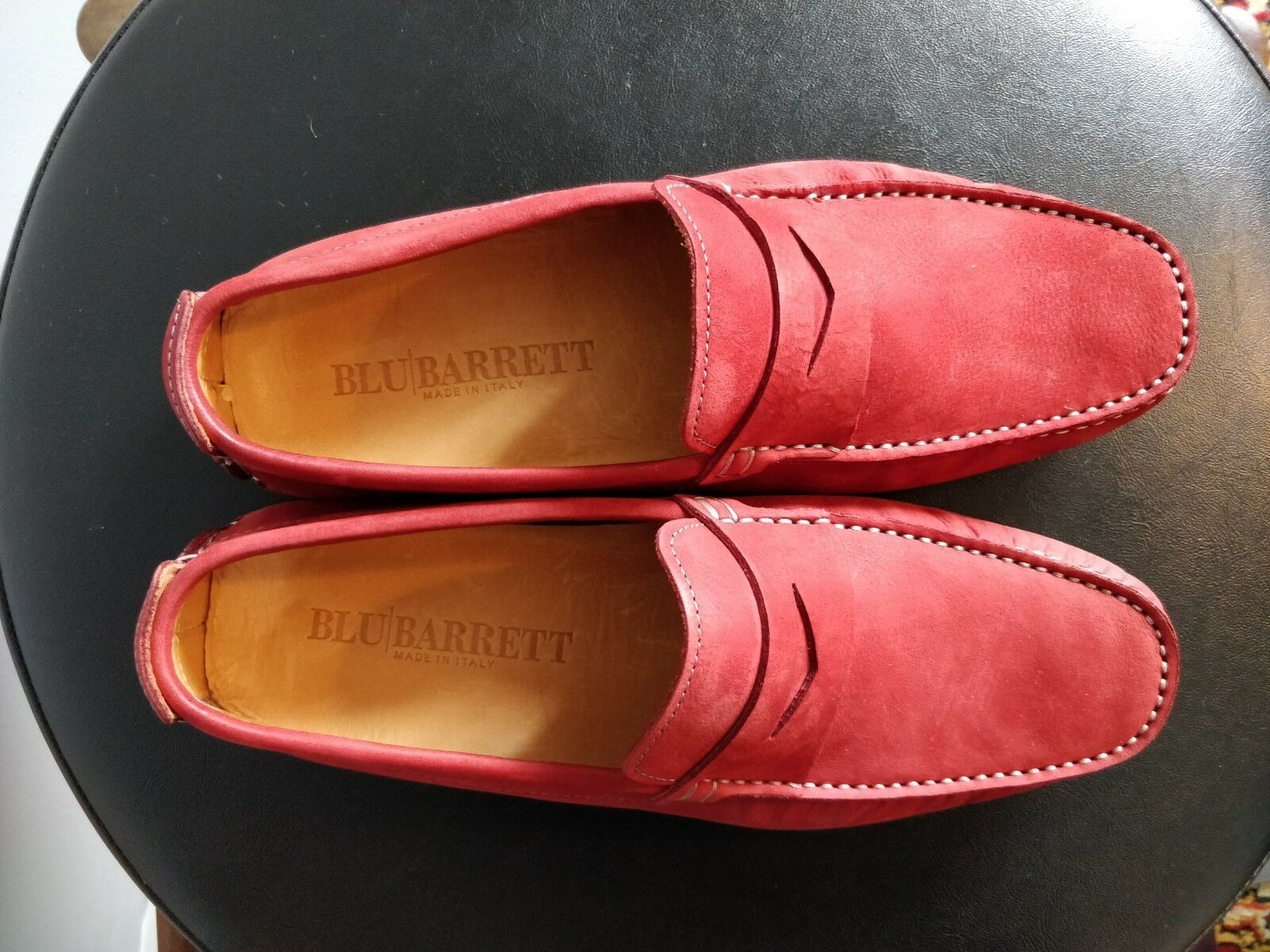 Blu Barrett Casual Stylish Suede ROT Burgundy Casual Barrett Summer Loafers Moccasins 91c4cd