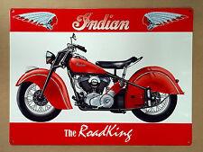 Indian The RoadKing - Tin Metal Wall Sign
