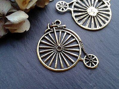 Antique Gold tibetan charms/pendants  VINTAGE STEAMPUNK JEWELLERY birds filigree