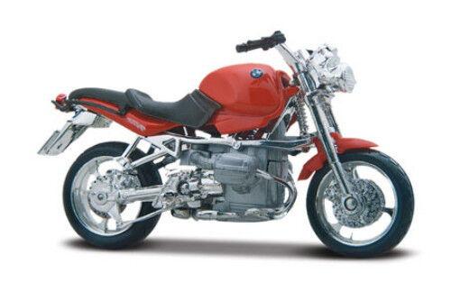 BMW R1100R rosso, Maisto Moto Modello 1:18, Nuovo, conf. orig.
