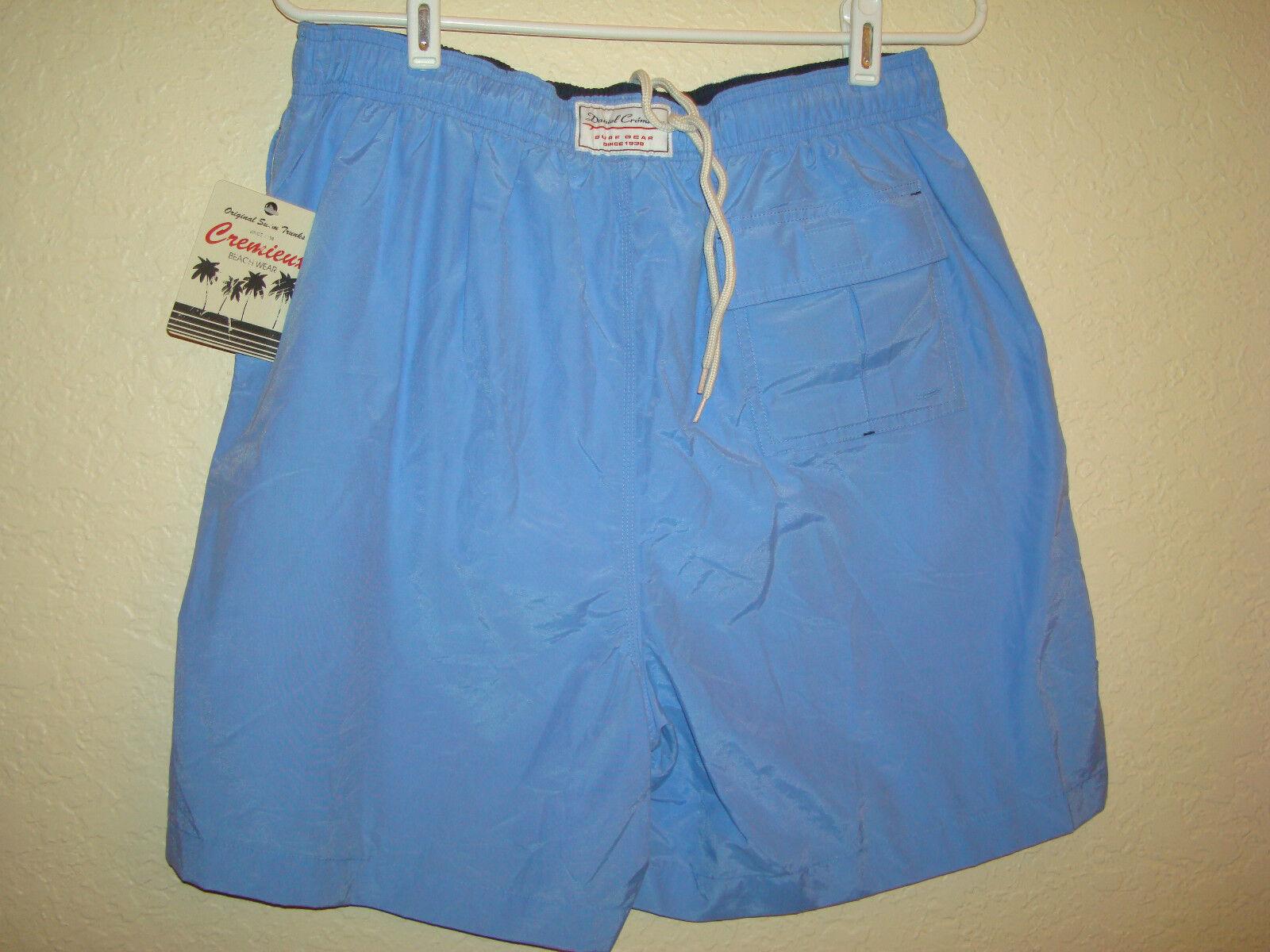 Nwt's Men's Cremiuex Beach Wear Cornflower bluee Swim Trunks-L