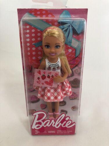 Barbie Little Sister Chelsea Pink Dress Valentine Doll Mattel NIB