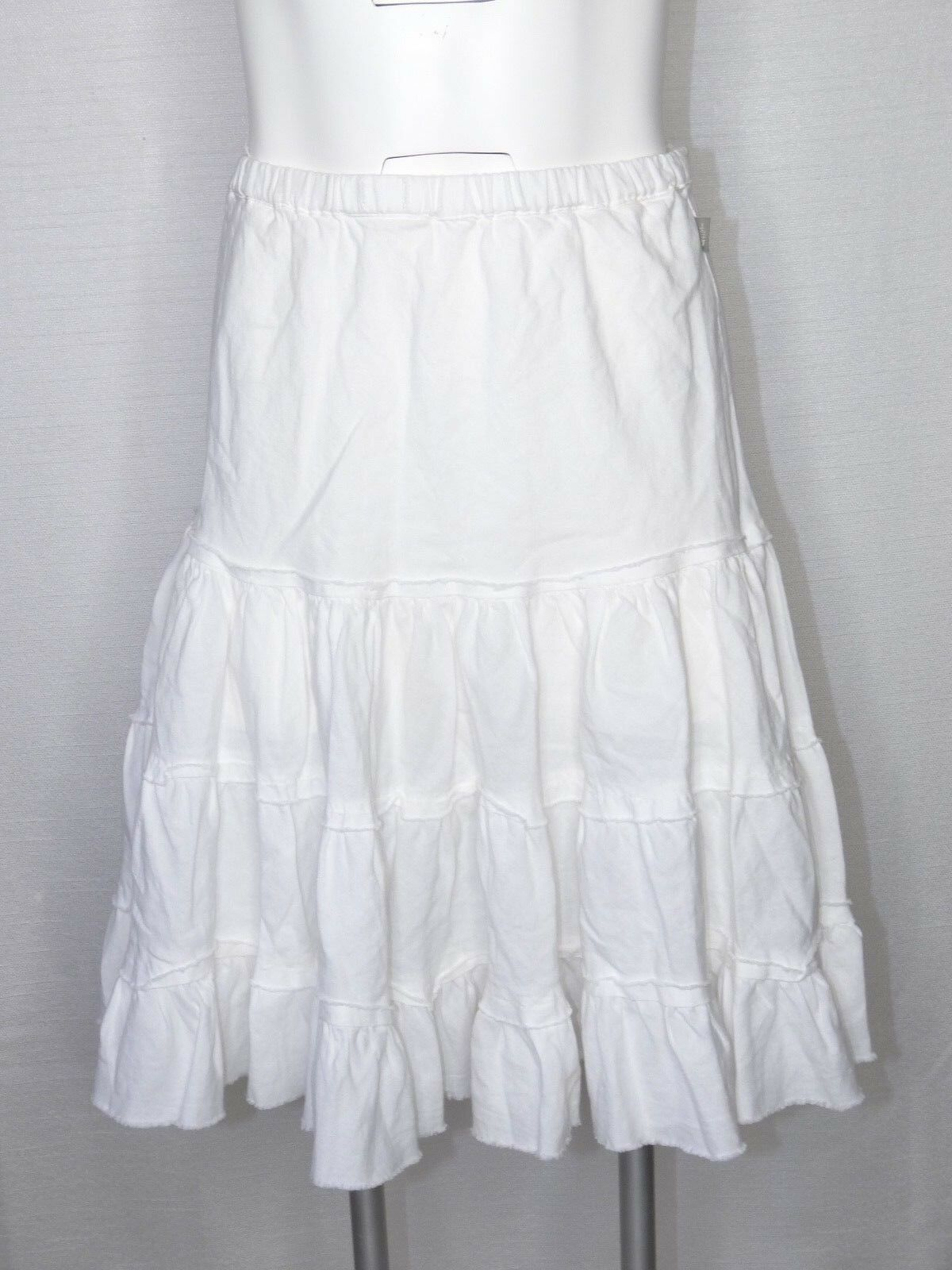 The North Face Small Petite White Skirt A5 Layered Ruffle