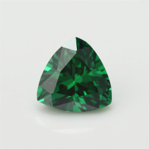 Size 3x3~10x10mm Trillion Shape Green 5A Loose Cubic Zirconia Stone