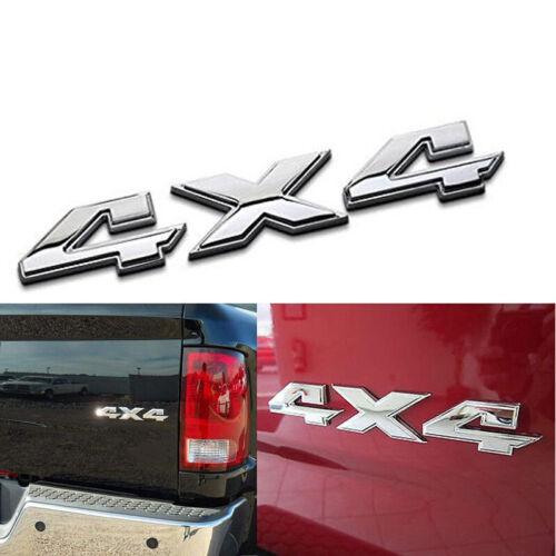 4X4 Emblem Aufkelber für Dodge Ram Chrom Heckklappe 55277438AA OEM Mopar