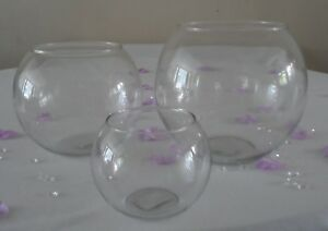 Clear-Glass-Flower-Round-Vase-Fish-Bowl-Bubble-Ball-Table-Centrepiece-Wedding