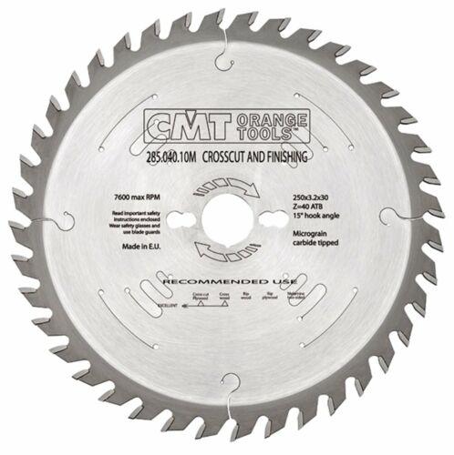 254 mm Z = 48 ATB ID = 30 CMT Mitre//Croix Coupe Lame Scie